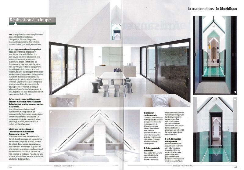 maison et travaux la maison dans le morbihan opus 5 architectes. Black Bedroom Furniture Sets. Home Design Ideas